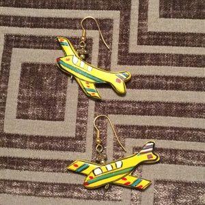 Vintage Balsa Wood Airplane Earrings! 🎉